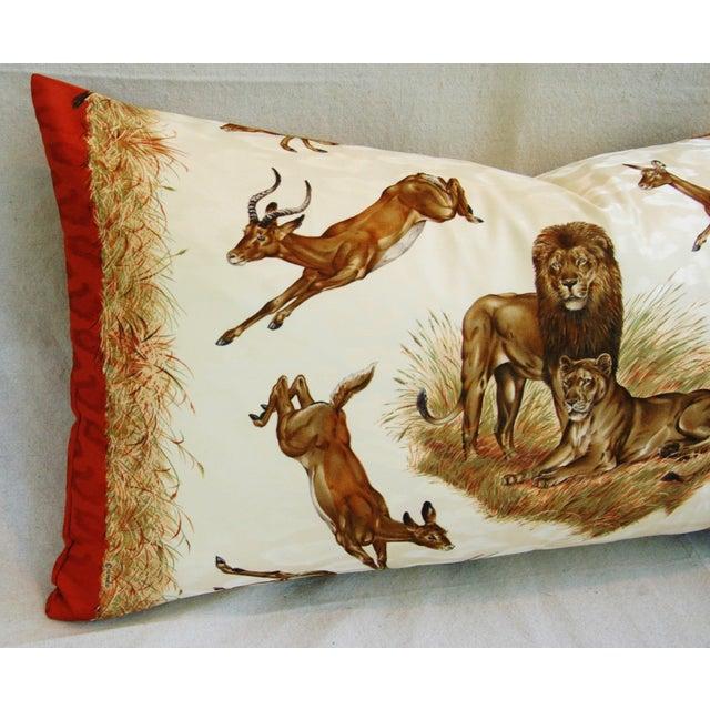 Custom Hermes Robert Dallet Safari Kenya Pillow - Image 4 of 11