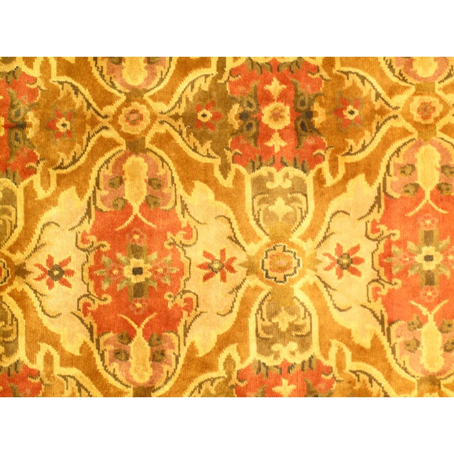 """Anglo-Indian Indo Amristar Design Rug - 7'11"""" X 10'2"""" For Sale - Image 3 of 4"""