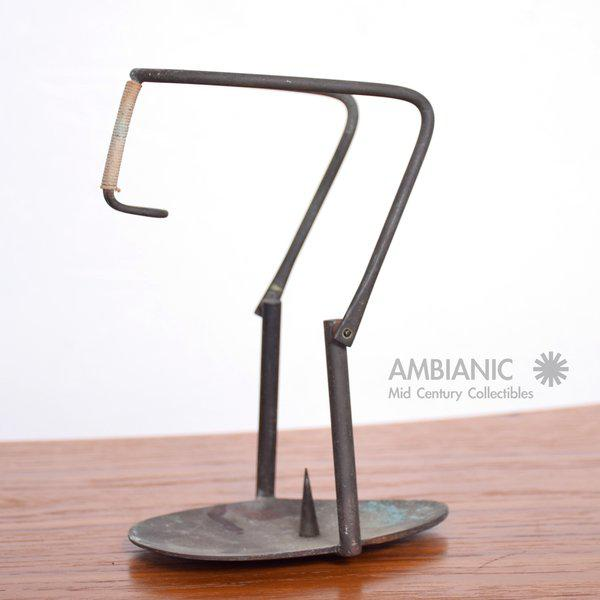 Mid-Century Modern Mid-Century Bronze Candle Holder For Sale - Image 3 of 8