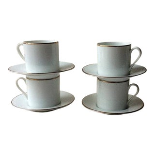 Vintage Mid-Century Tiffany & Co. Porcelain Coffee Cups - Set of Four