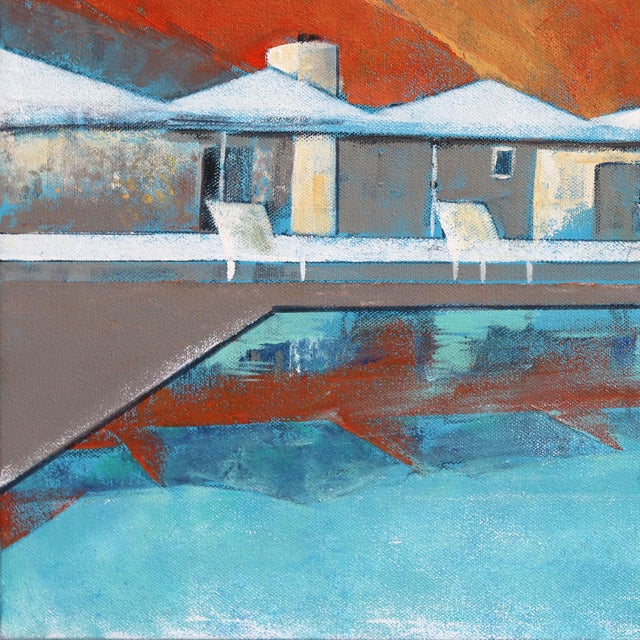 """Mid Century Palm Springs Sunset"" Original Artwork by Kathleen Keifer For Sale - Image 4 of 8"