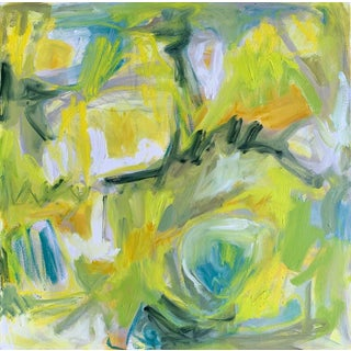 """""""Daffodils"""" by Trixie Pitts Abstract Expressionist Oil Painting For Sale"""