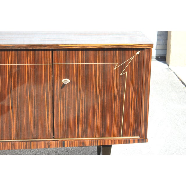 1940s French Art Deco Macassar Ebony Sideboard/Buffet For Sale - Image 9 of 13