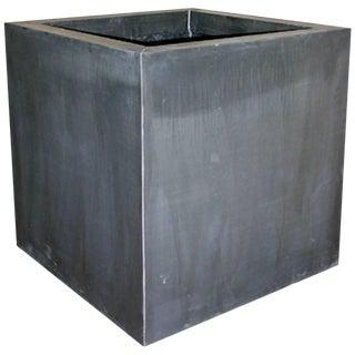 Contemporary Zinc Square Garden Planter Boxes For Sale