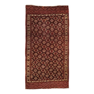 Antique Turkoman Yomud Gallery Rug - 7′3″ × 14′ For Sale