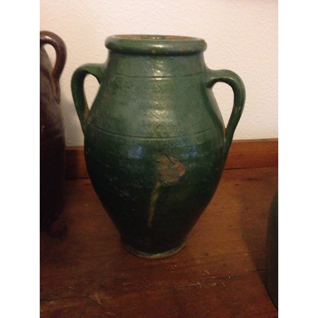 Islamic Vintage Turkish Green Pottery Jar For Sale - Image 3 of 5