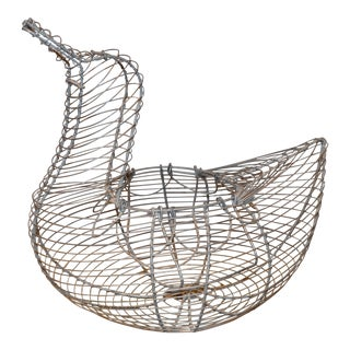 1980s Duck Shaped Egg Basket For Sale