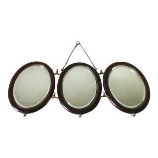 19th Century Tri-Fold Mirror For Sale