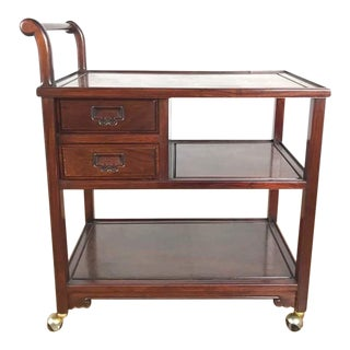 Chinese Style Rosewood Tea Cart