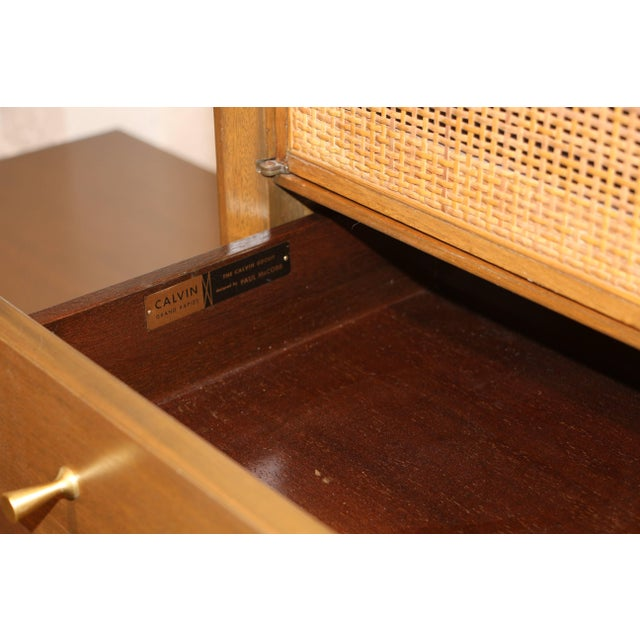 1950s Paul McCobb for Calvin Credenza Sideboard With Bar Top For Sale - Image 5 of 11