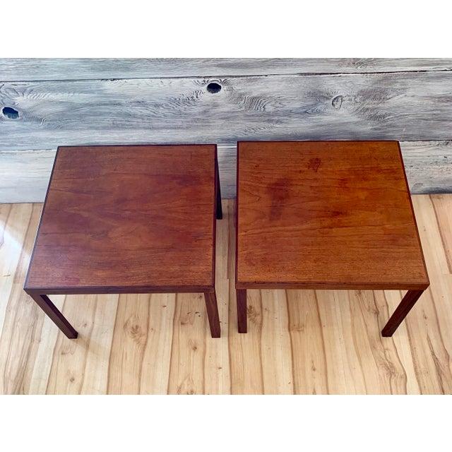 Danish Modern 1960s Danish Modern Hans Olsen Teak Side Tables - a Pair For Sale - Image 3 of 11