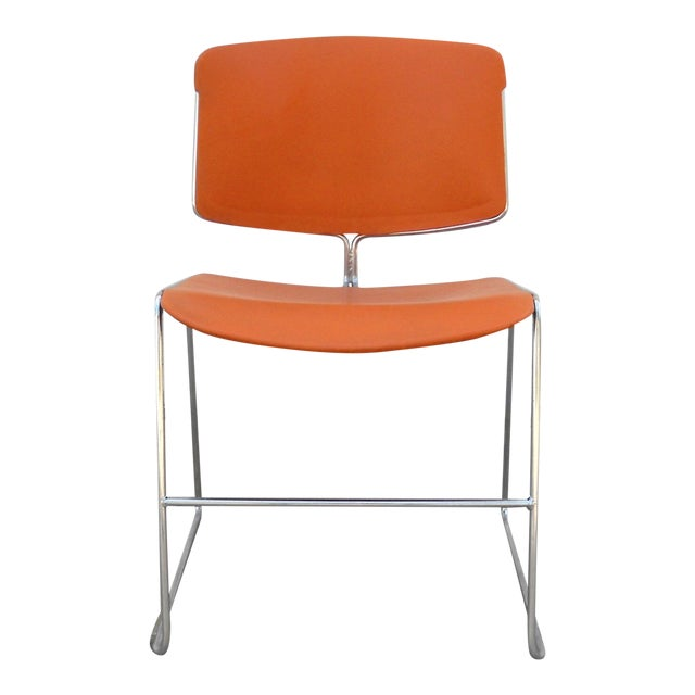 Vintage Orange Steelcase Max-Stacker Chair - Image 1 of 3