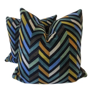 """Brentano """"Pandora """" in Griffin 22"""" Pillows-A Pair For Sale"""