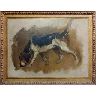 Charles Furse - Study of a Foxhound -19th Century Oil Painting Preview