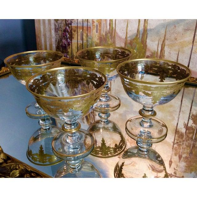 Arte Italica Vetro Gold Dessert Bowls - Set of 4 - Image 10 of 10