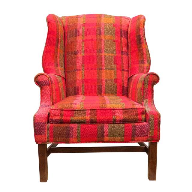 Vintage Mid-Century Flexsteel Georgian Style Wingback Chair For Sale - Image 13 of 13