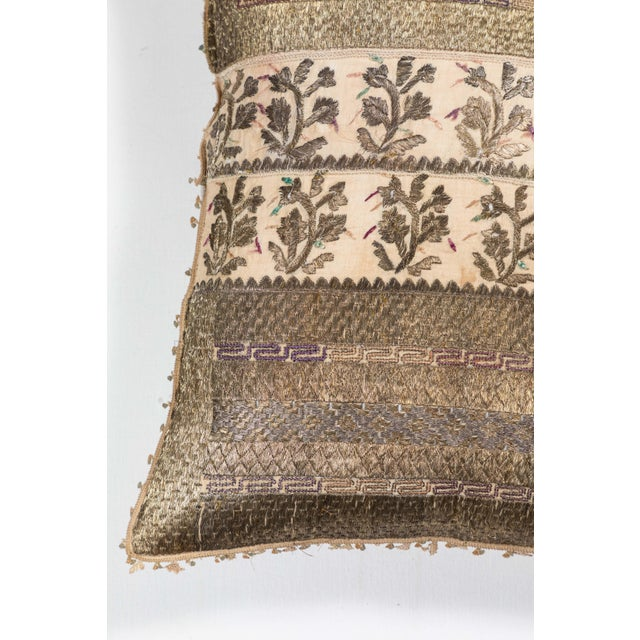 Mid 19th Century 19th Century Embroidery Pillow For Sale - Image 5 of 7