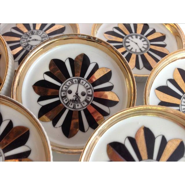 Asian Shafford Porcelain Coasters - Set of 7 For Sale - Image 3 of 9