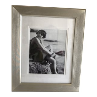 1920s Vintage Beach Photo Image in Contemporary Frame For Sale