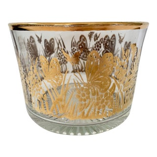Vintage 22k Gold Butterfly Ice Bucket For Sale