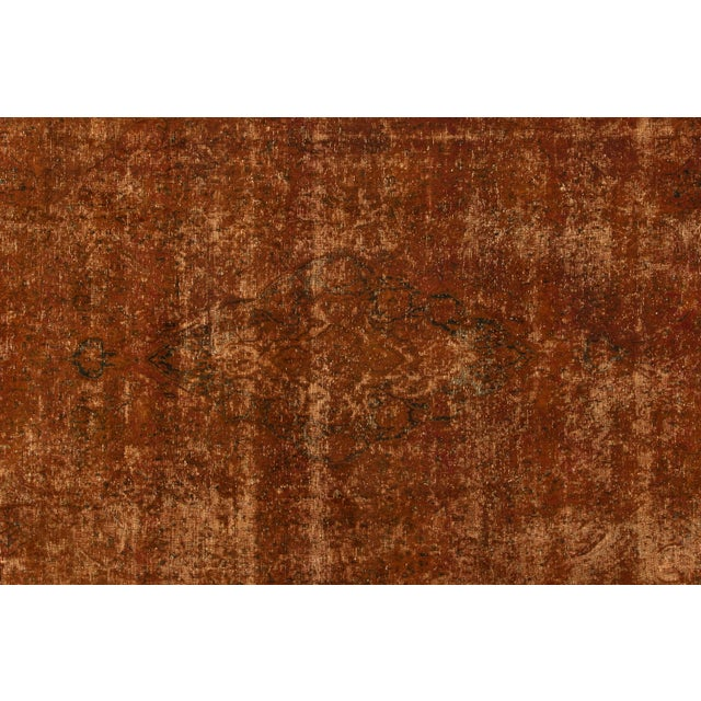 "1940s Apadana - Vintage Overdyed Rug, 9'5"" X 13'9"" For Sale - Image 5 of 7"