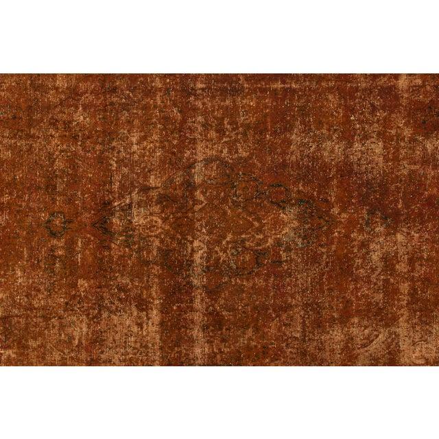 "1940s Apadana - Vintage Overdyed Rug, 9'5"" X 13'9"" For Sale - Image 5 of 7"