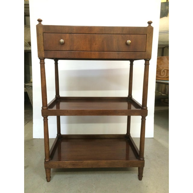 Vintage Baker Furniture 3 Tiered Table - Image 2 of 10 - Vintage Baker Furniture 3 Tiered Table Chairish