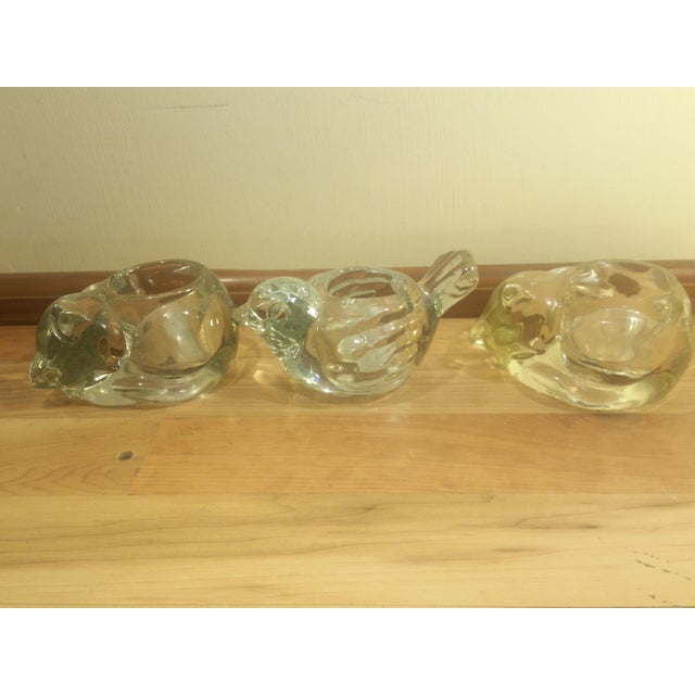 Clear Glass Animal Candle Holders - Set of 3 - Image 2 of 8