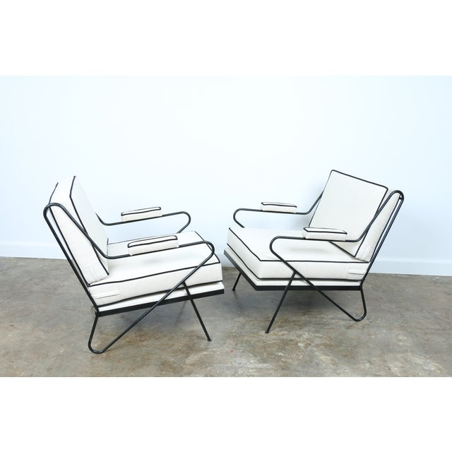 Wrought Iron Custom Hairpin Leg Chairs - A Pair - Image 8 of 11
