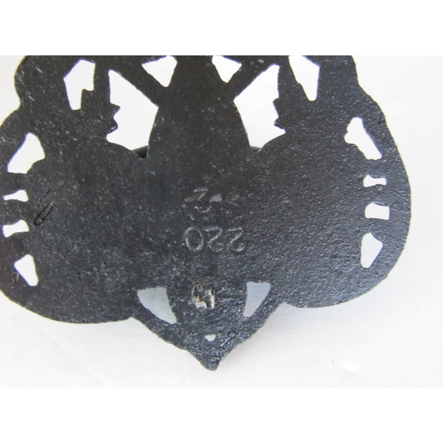 Black Iron Match Safe with Rooster - Image 4 of 5