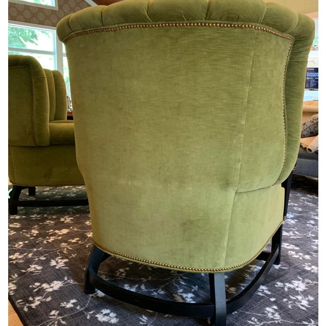 This pair of wingback chairs is only several years old, but evokes a gone by era while maintaining the comfort of current...