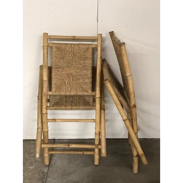 Mid 20th Century Pair of Faux Bamboo Campaign Chairs in the Manner of Maison Jansen For Sale - Image 5 of 9
