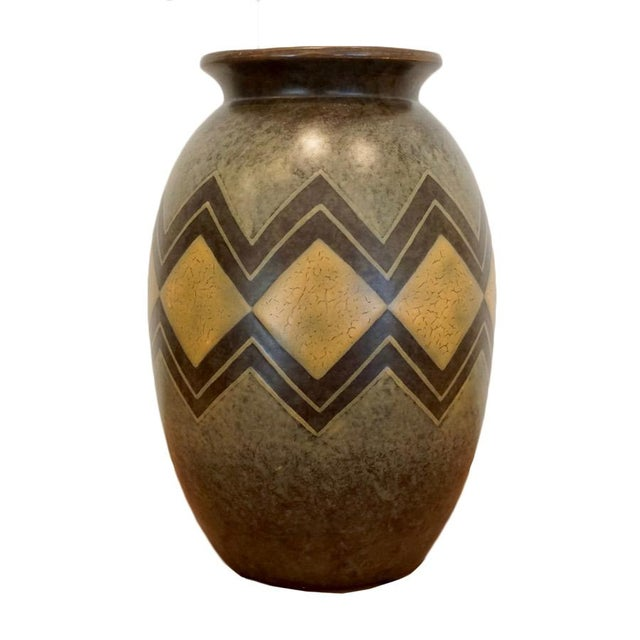 Green 1920s Boch Freres Vase For Sale - Image 8 of 8