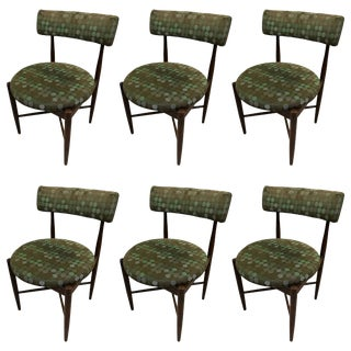 Set of Six Mid-Century Danish G-Plan Dining Chairs Attributed to Ib Kofod Larsen For Sale