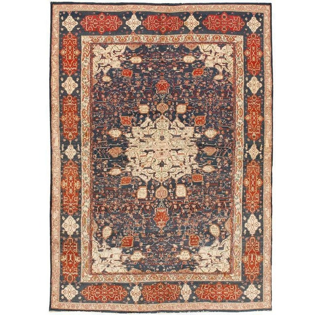 Extremely fine antique Indian Agra carpet. Contact dealer. Excellent condition.