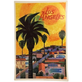 Howard Koslow Original Poster of Los Angeles in 1964 For Sale