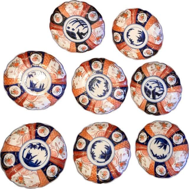 Japanese Imari Porcelain Dishes - Set of 8 - Image 1 of 4