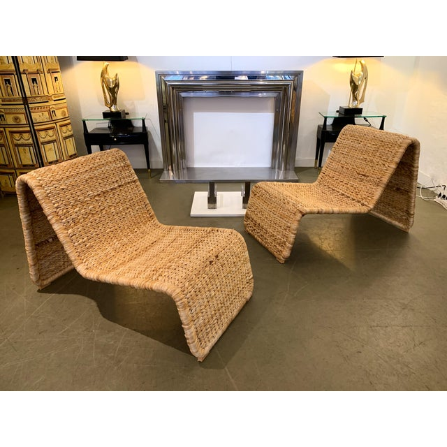 1980s Tito Agnoli P3 Rattan Lounge Chairs- a Pair For Sale - Image 12 of 12
