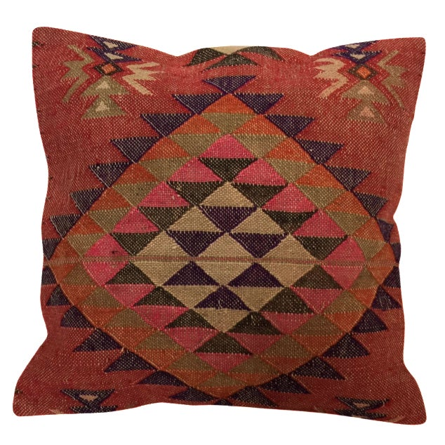 Handmade Kilim Pillow Cover - Image 1 of 6