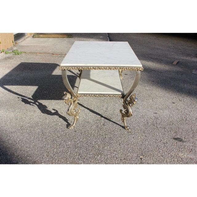 Gold 1940s Art Nouveau Maison Jansen Two-Tier Bronze ''Dragon Leg'' Coffee Table For Sale - Image 8 of 12
