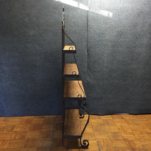 Spanish-Style Iron & Wood Baker's Rack For Sale In Los Angeles - Image 6 of 7