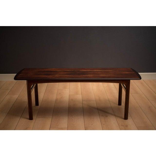 Mid-Century Modern Scandinavian Modern Westnofa Rosewood Coffee Table For Sale - Image 3 of 11