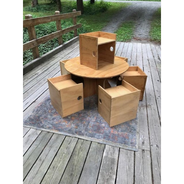 Studio Craft Modern Children's Table & Six Box Chairs - 7 Pieces For Sale - Image 11 of 11