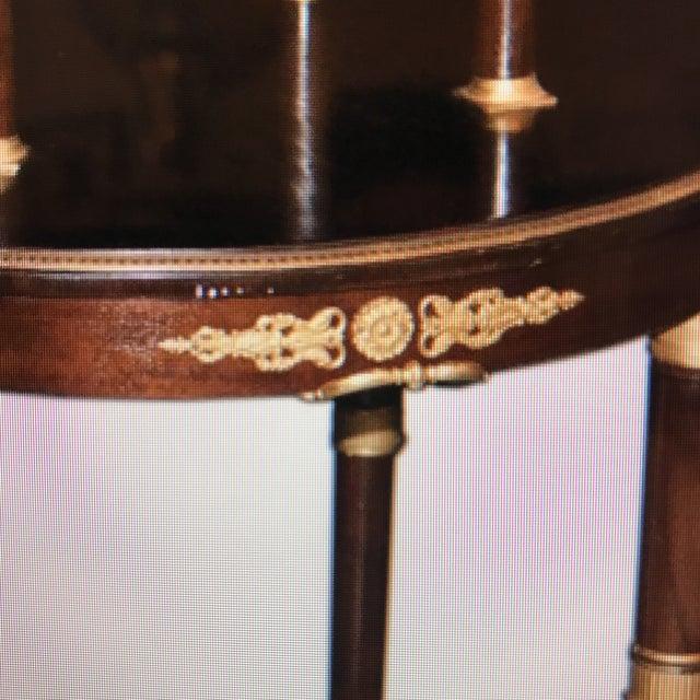 Doré Bronze Wooden Double Level Table - Image 3 of 5