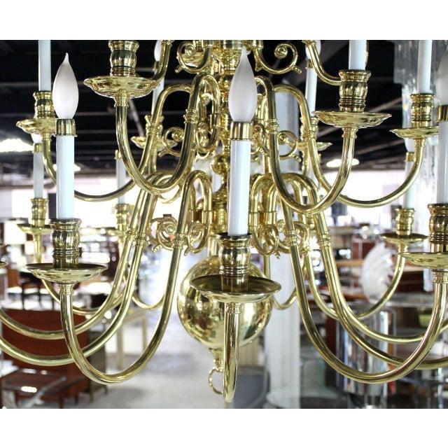 Vintage Brass Candelabra Chandelier For Sale - Image 9 of 10