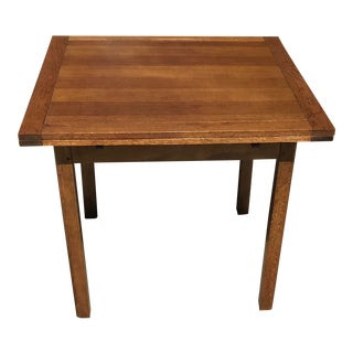 Vintage English Traditional Oak Draw Leaf Table For Sale