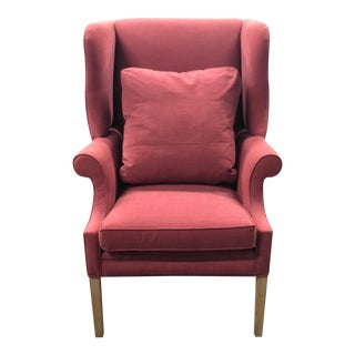 Pink Century Chair With Down Pillow For Sale
