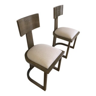 Modern Nickey Kehoe Dining Chairs- a Pair For Sale