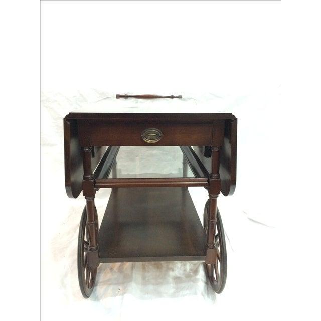 Walter of Wabash Drop-Leaf Bar Cart - Image 7 of 10