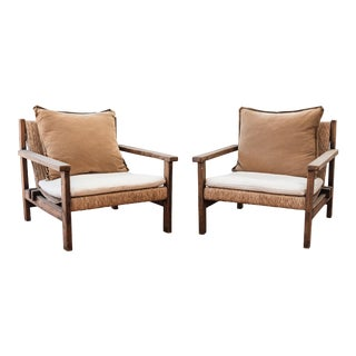 Nickey Kehoe Outdoor Lounge Chairs - A Pair